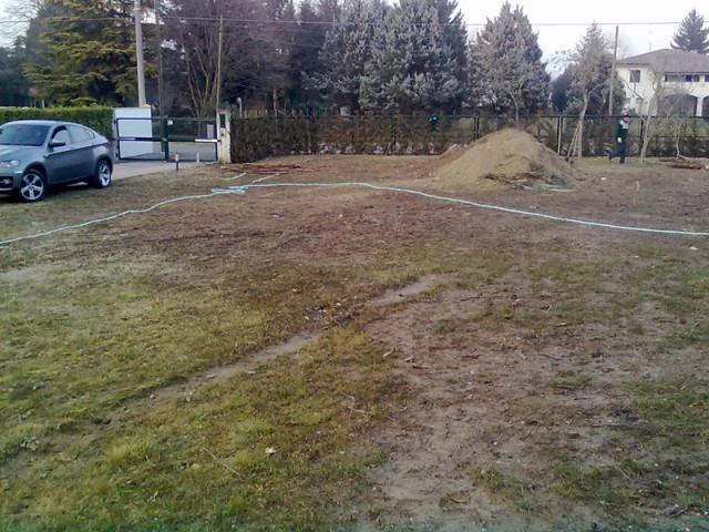 giardino camponogara prima del lavoro