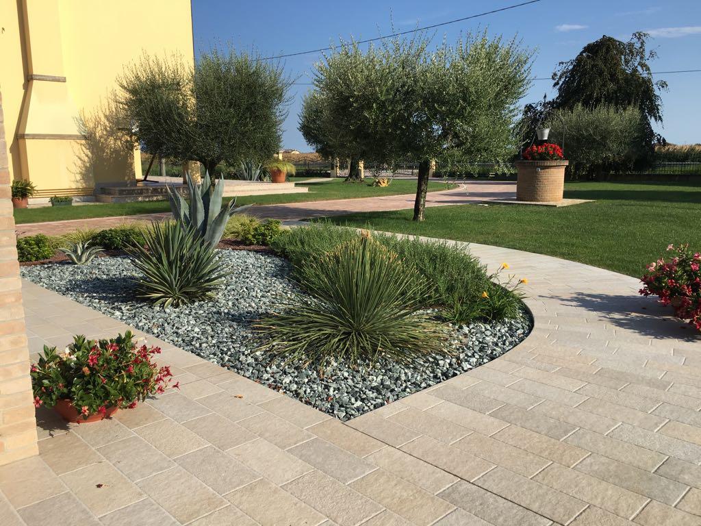 Giardino moderno creato per manutenzione minima a calcroci for Giardino moderno